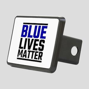 Blue Lives Matter Rectangular Hitch Cover