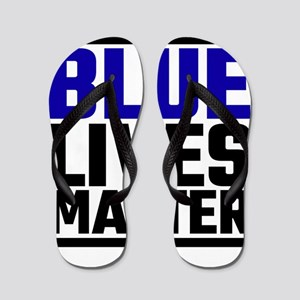 Blue Lives Matter Flip Flops