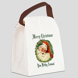 merry christmas ya filthy animal Canvas Lunch Bag