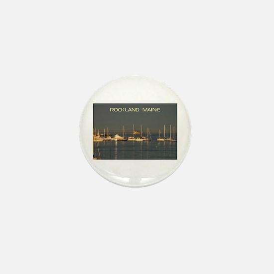 Rockland Harbor, Maine Mini Button