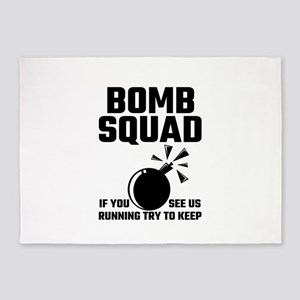 Bomb Squad If You See Us Running Tr 5'x7'Area Rug