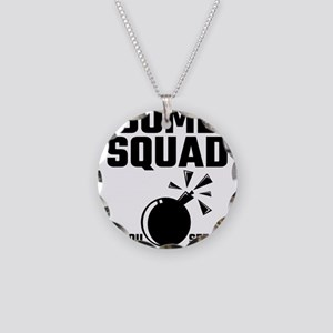 Bomb Squad If You See Us Run Necklace Circle Charm