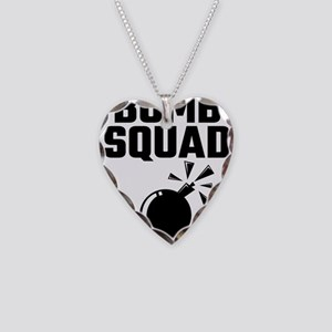 Bomb Squad If You See Us Runn Necklace Heart Charm