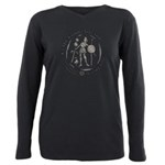Celtic Chieftain Coin Plus Size Long Sleeve Tee