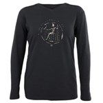 Celtic King Coin Plus Size Long Sleeve Tee