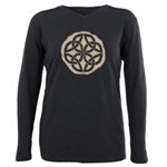 Celtic Knotwork Coin Plus Size Long Sleeve Tee
