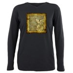Celtic Letter F Plus Size Long Sleeve Tee