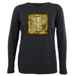 Celtic Letter G Plus Size Long Sleeve Tee