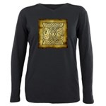 Celtic Letter I Plus Size Long Sleeve Tee