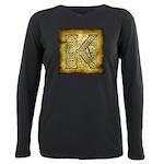 Celtic Letter K Plus Size Long Sleeve Tee