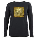 Celtic Letter W Plus Size Long Sleeve Tee