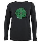 Celtic Four Leaf Clover Plus Size Long Sleeve Tee