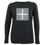 Celtic Square Cross Plus Size Long Sleeve Tee