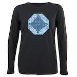 Celtic Diamond Aqua Plus Size Long Sleeve Tee