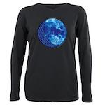 Celtic Blue Moon Plus Size Long Sleeve Tee