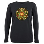 Celtic Pentacle Spiral Plus Size Long Sleeve Tee