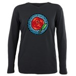 Celtic Rose Stained Glass Plus Size Long Sleeve Te