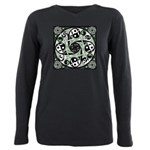 Celtic Spiral Stepping Stone Plus Size Long Sleeve