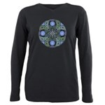 Celtic UFO Mandala Plus Size Long Sleeve Tee