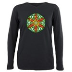 Celtic Summer Mandala Plus Size Long Sleeve Tee