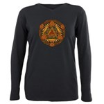 Celtic Pyramid Mandala Plus Size Long Sleeve Tee