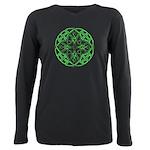 Celtic Clover Mandala Plus Size Long Sleeve Tee
