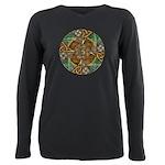 Celtic Aperture Mandala Plus Size Long Sleeve Tee