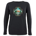 Celtic Flamingo Art Plus Size Long Sleeve Tee