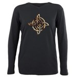 Celtic Rock Knot Plus Size Long Sleeve Tee