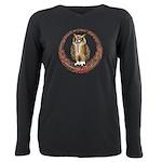Celtic Owl Plus Size Long Sleeve Tee