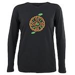Celtic Nature Yin Yang Plus Size Long Sleeve Tee