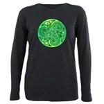 Celtic Triskele Plus Size Long Sleeve Tee