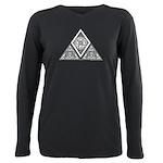 Celtic Pyramid Plus Size Long Sleeve Tee