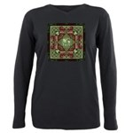 Celtic Dragon Labyrinth Plus Size Long Sleeve Tee