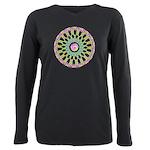 Celtic Springtime Mandala black shirt  Plus Si
