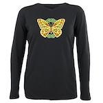 Celtic Butterfly Plus Size Long Sleeve Tee