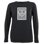 Celtic Knotwork Heart Plus Size Long Sleeve Tee