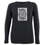 Celtic Knotwork Spin Plus Size Long Sleeve Tee
