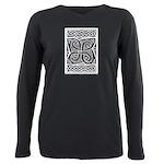 Celtic Knotwork Cloverleaf Plus Size Long Sleeve T