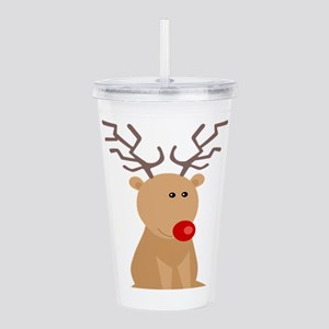 Cute Sitting Red Nosed Acrylic Double-wall Tumbler