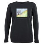Wise Man Sees Tree Quote Plus Size Long Sleeve Tee