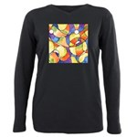 Carnival Balloons Abstract Plus Size Long Sleeve T