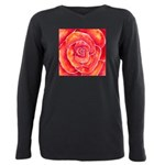 Red-Orange Rose Plus Size Long Sleeve Tee