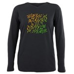 Abstract Arabic Design Plus Size Long Sleeve Tee