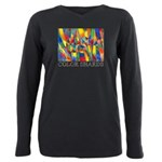 Color Shards Watercolor Plus Size Long Sleeve Tee