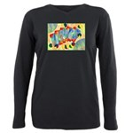 Poker Abstract Watercolor Plus Size Long Sleeve Te
