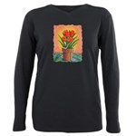 Tulips and Pearls Plus Size Long Sleeve Tee