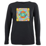 Sacred Geometry Watercolor Plus Size Long Sleeve T