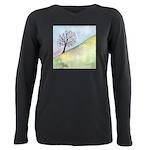 California Lone Tree Watercolor Plus Size Long Sle