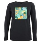 Early Frost Watercolor Plus Size Long Sleeve Tee